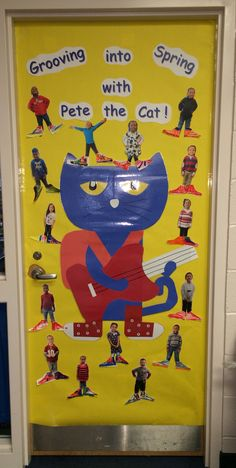 Charming March Door For My Classroom ! Pete The Cat
