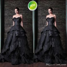 Wholesale Evening Dresses - Buy 2014 Best Selling Luxury Formal Gown Sexy Sweetheart Sweep Train Ball Gown Black Lace Applique Layers Corset Fashion Party/evening Dresses, $169.0 | DHgate