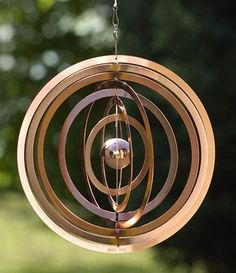 Bring music to your garden with these wind chimes. Compiled by Emma Hartley. Copper bell rings wind chime, £20 (08456 049049; www.johnlewis.com ). The gentle tinkle produced by these steel circles as they twirl in the breeze makes this a must-have chime. Suspend from a pergola or branch to add romantic glamour to the garden.