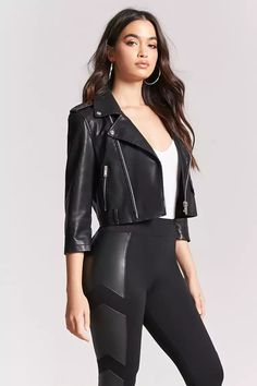 Product Name:Faux Leather-Panel Leggings, Category:bottoms, Price:19.9