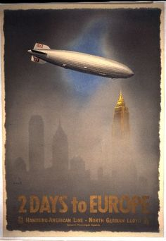 2 Days to Europe poster, 1937. Designed by Jupp Wiertz.