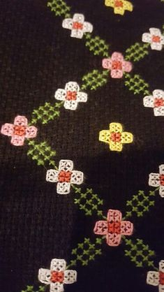 This Pin was discovered by Lal Cross Stitch Borders, Cross Stitch Flowers, Cross Stitch Designs, Cross Stitching, Cross Stitch Embroidery, Cross Stitch Patterns, Floral Embroidery, Hand Embroidery, Embroidery Designs