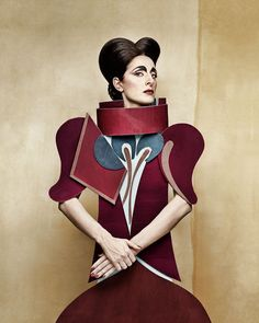 Dame di Cartone, Cubism ll.  Series of cardboard ladies staged, costumed  and photographed by Christian Tagliavini
