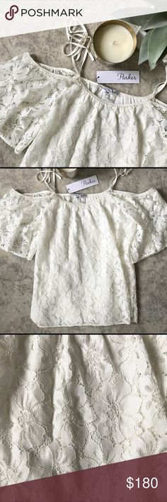 NWT Parker Tessy Blouse Beautiful White Lace Top Parker Tops Blouses