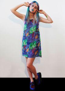 RAINFOREST DP CHIFFON DRESS // designer casette playa