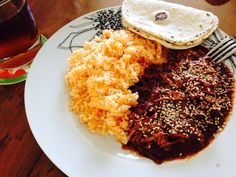 Chicken mole with rice!