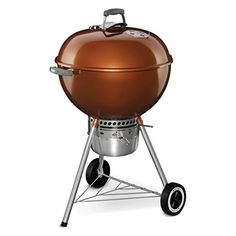Weber Original Premium Copper Kettle Charcoal Grill at Lowe's. The authenticity of grilling with charcoal, classic design recognized by all, and the taste loved around the world. The Original Kettle premium charcoal Charcoal Smoker, Best Charcoal Grill, Charcoal Bbq, Clean Grill, Bbq Grill, Grill Cleaning, Weber Barbecue, Weber Kettle, Cooking Temperatures
