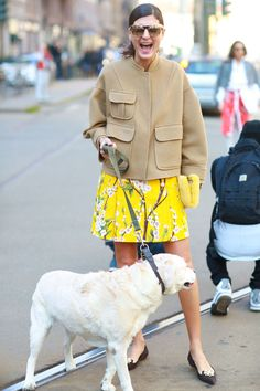 MFW Street Style Day Five: Is there anyone who has more fun at Fashion Week than Giovanna Battaglia? Source: Tim Regas