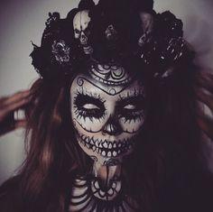 Scary sugar skull makeup
