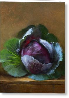 Autumn Cabbage Greeting Card by Robert Papp