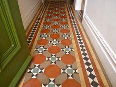 Minton tiles, entry, hallway.