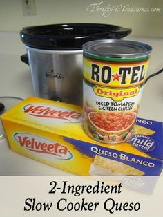 You'll want to add this 2 Ingredient Slow Cooker Queso to your list of favorite appetizers (and crockpot recipes)! This easy appetizer recipe is definitely a crowd pleaser. appetizers with meat 2 Ingredient Slow Cooker Queso Slow Cooker Recipes, Crockpot Recipes, Cooking Recipes, Rotel Dip Velveeta, Queso Blanco Recipe Velveeta, Nacho Cheese Crockpot, Moes Queso Recipe, Crock Pot Cheese Dip, Chile Con Queso
