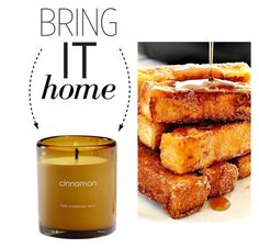 """""""Bring It Home: Cinnamon Soy Candle"""" by polyvore-editorial ❤ liked on Polyvore featuring interior, interiors, interior design, home, home decor, interior decorating and bringithome"""