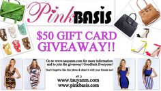 #Giveaway: Win a $50 Gift Card from PinkBasis.Com! |