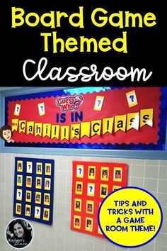 Thinking about a game board decor or a game room themed classroom for this coming school year? Here are some creative ways to not only integrate a game theme design to your classroom, but also to your management system. Classroom Hacks, Classroom Board, Classroom Decor Themes, Future Classroom, Classroom Organization, Bulletin Boards, Homework Incentives, Class Incentives, Behavior Incentives