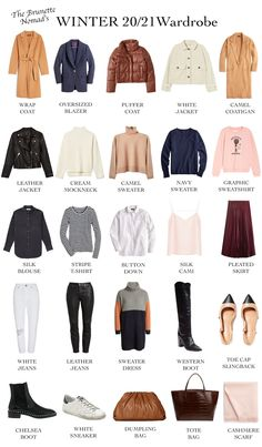 Capsule Wardrobe Women, Capsule Outfits, Fashion Capsule, Capsule Wardrobe Winter, Winter Wardrobe Essentials, Winter Fashion Outfits, Look Fashion, Trendy Outfits, The Brunette