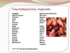 Alimento Puro: Frutas e Hortaliças de Outono em todo o Brasil
