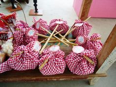 kids party little red riding hood favors Picnic Birthday, Birthday Gift Baskets, First Birthday Parties, Birthday Gifts, Picnic Themed Parties, Camping Parties, Camping Theme, Picnic Party Favors, Party Gifts