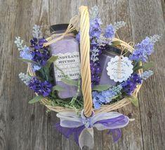 Lavender Vanilla Soy Candle and Milk Bath Spa by SandyLandStudio