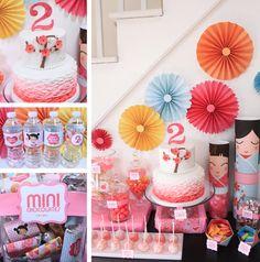 Japanese KOKESHI Doll PartyPack-Cupcake wraps от SWEETSDESIGNED