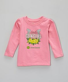 John Deere is more than just a brand; it's a way of life. Little green-and-yellow enthusiasts will adore the big, bold graphic and all-cotton softness of this tee that can keep up with a rough-and-tumble lifestyle.