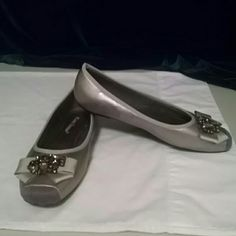 Pierre Dumas shoes Silver and grey with a suede toe. Worn only once! Pierre Dumas Shoes Flats & Loafers