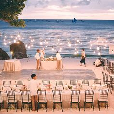 Everything looks better by the beach Lovely reception setup for #gnondricasayido by @ronaldsoncioevents at #asyapremiersuites Boracay :)