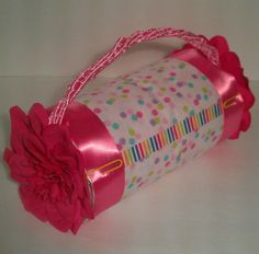 Diaper cake purse! Baby shower gift or centerpiece...different colors available. only $12