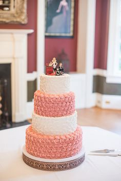 Wedding Cakes : Picture Description Four tier white and pink buttercream wedding cake by Cake by Becca; Mon Cheri Bridal, Buttercream Wedding Cake, Cupcake Cakes, Cupcakes, Beautiful Lights, Wedding Dress Styles, Wedding Trends, Becca, Jessie
