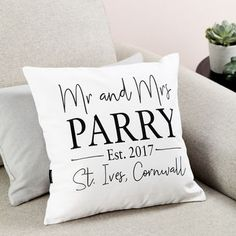 Personalised 'Mr And Mrs' Wedding Cushion