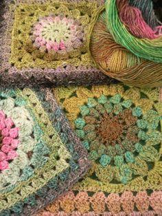 http://thecreativepenny.blogspot.com.au/2010/11/kata-free-crochet-square-pattern.html  noro silk garden lite