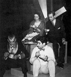 Director Edgar Ulmer relaxes with Karloff on the set of THE BLACK CAT (1934)
