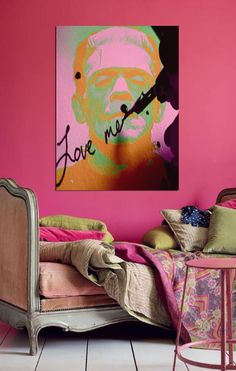 DECOR ; INTERIORS ; ROOMS ; ART ;  CHESSY WELCH Home Wall Colour, House Colors, Pantone, Home Suites, Interior Wallpaper, Bright Art, Amazing Decor, Pink Walls, Inspiration Wall