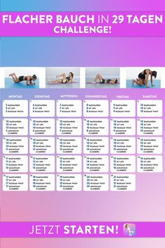 Face the Flat Belly in 29 Days Challenge Stelle dich der Flacher Bauch in 29 Tagen Challenge Stelle dich der Flacher Bauch in 29 Tagen Challenge Workout Get fit Reach your goal Insanity Workout, Best Cardio Workout, Easy Workouts, Workout Challenge, Workout Videos, At Home Workouts, Belly Challenge, Workout Plans, Workout Exercises