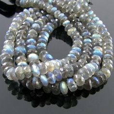 6-7mm - A Labradorite Faceted Rondelle Bead Strands