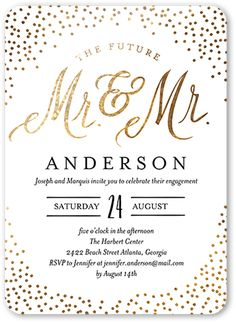 Say yes to sophisticated engagement invitations to honor the newly engaged couple. Color: White. Elegant Wedding Invitations, Wedding Stationary, Bridal Shower Invitations, Invites, Formal Invitations, Engagement Couple, Wedding Engagement, Engagement Party Themes, Engagement Pictures
