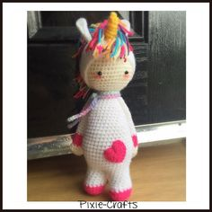 New order heading out today is a cute Ulrika Unicorn.  Shame it is raining today as I couldn't get her outside to photograph.  #art #artdoll #amigurumi #bestoftheday #craft #crochet #doll #dollsofinstagram #etsy #etsyshop #etsyseller #handmade #like #love #lalylala #unicorn by pixiecraftdolls