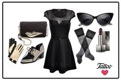 Nada tan glamouroso como un vestido negro con transparencias #ootd #TattooStyle
