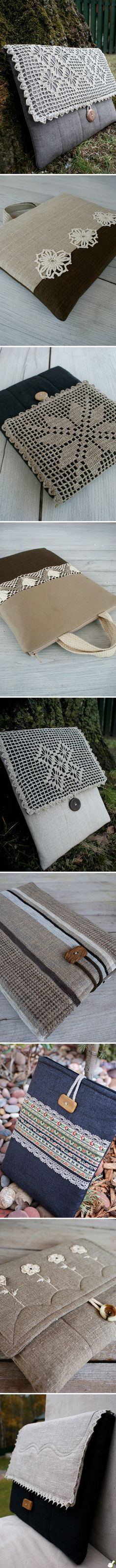 iPad case :: Stylishly decorated with crochet