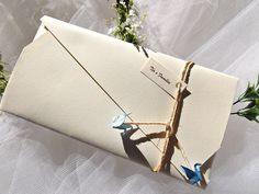 Convite Casamento Praiano Rústico Passarinho Origami Tsuru  http://www.rosamia.com.br/pd-23386c-convite-passarinho-origami.html