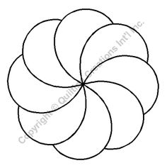 "Quilting Stencils > Floral & Leaf Block - Item: 3.5"" on QuiltingCreations.com"