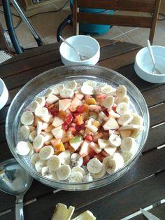 Chia pudding with fruit salad