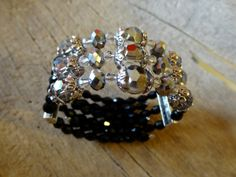 Crystal bead bracelet in memory wire