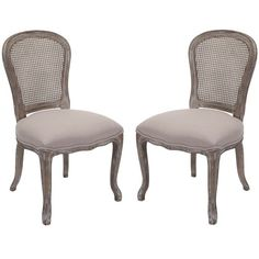 Sophistication and great attention to detail was used in designing this regal side chair set. This set features an etched antiqued oak finish wood frame and an extra-thick padded taupe viscose blend seating.