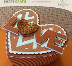FREE» Shape 19: Caixa Love by Karin Arruda - Silhouette Brasil heart shape box favour love valentine wedding