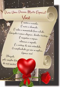 Há Pessoas Tão Especiais Que Se Tornam Indispensáveis em Nossas Vidas, Te Amo | Mensagens de Carinho Portuguese Quotes, Tropical Christmas, Happy Birthday Quotes, Night Quotes, Love Quotes, Place Card Holders, Instagram, Emoticons, Vida Real