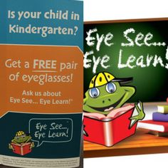 a19e0f5ca6 Don t forget to get your children in for there eye exams before school  starts up ! .We work with the eye see eye program too!