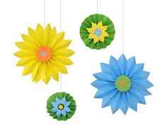DIY Paper Crafts : DIY Paper Party Decorations : Accordian Folded Starbursts & Medallions, For The Succah Or Anytime!