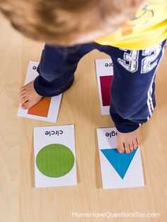 A fun game for toddlers or preschoolers that helps them learn shapes - Moms Have Questions Too