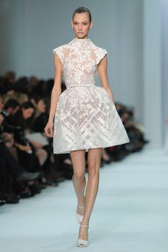 Perfect Little Mod Wedding Dress, Elie Saab Couture, Spring 2012 Haute Couture
